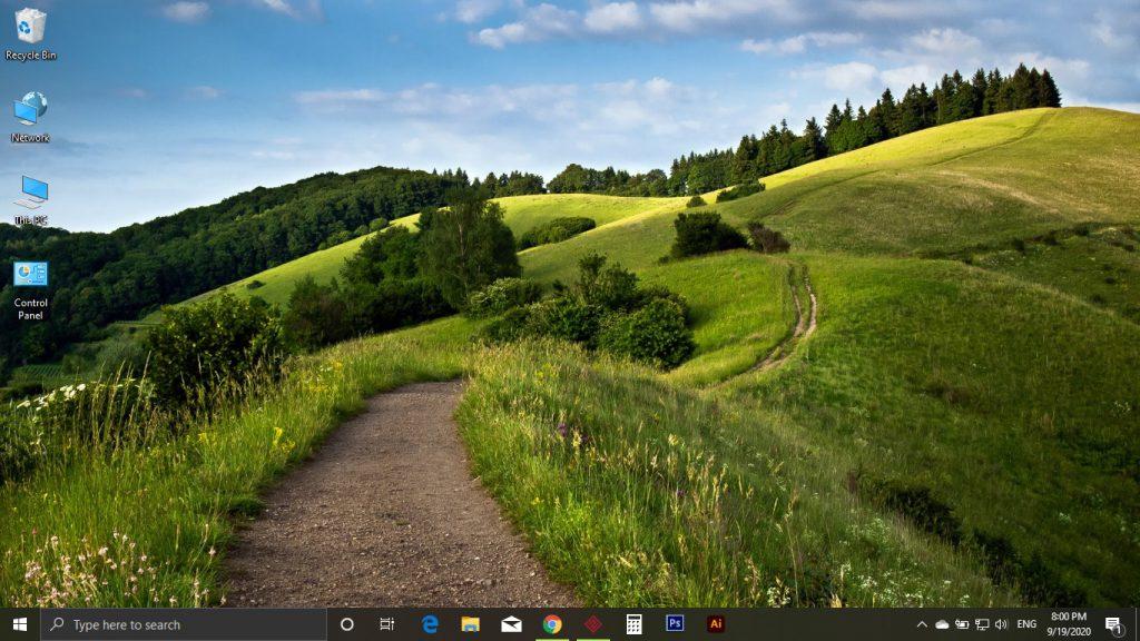افزودن آیکون به دسکتاپ ویندوز 10